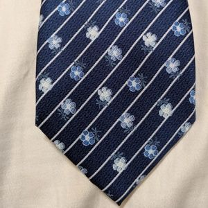 Dockers tie blue with with stripes, white flower